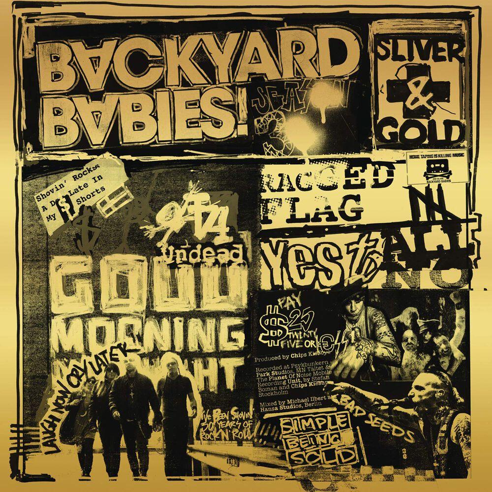 Image of Backyard Babies Sliver and gold CD Standard