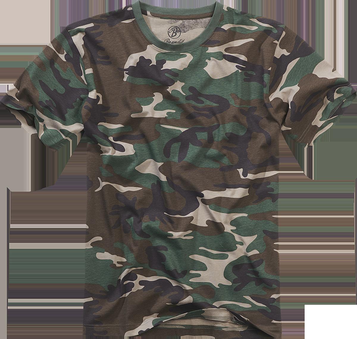 Brandit - Premium T-Shirt - T-Shirt - woodland image