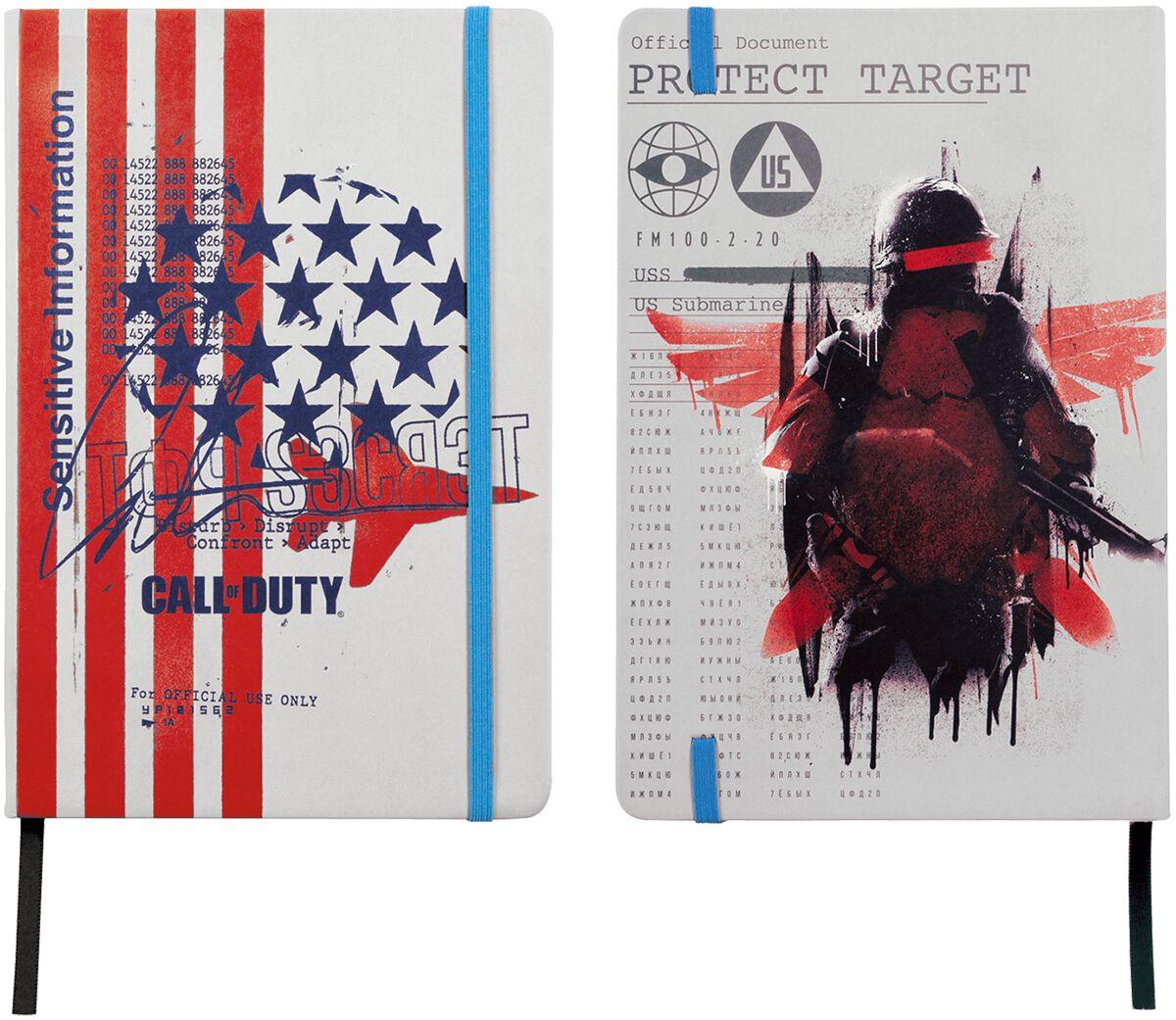 Call Of Duty  Cold War - American Soldier  Notizbuch  multicolor