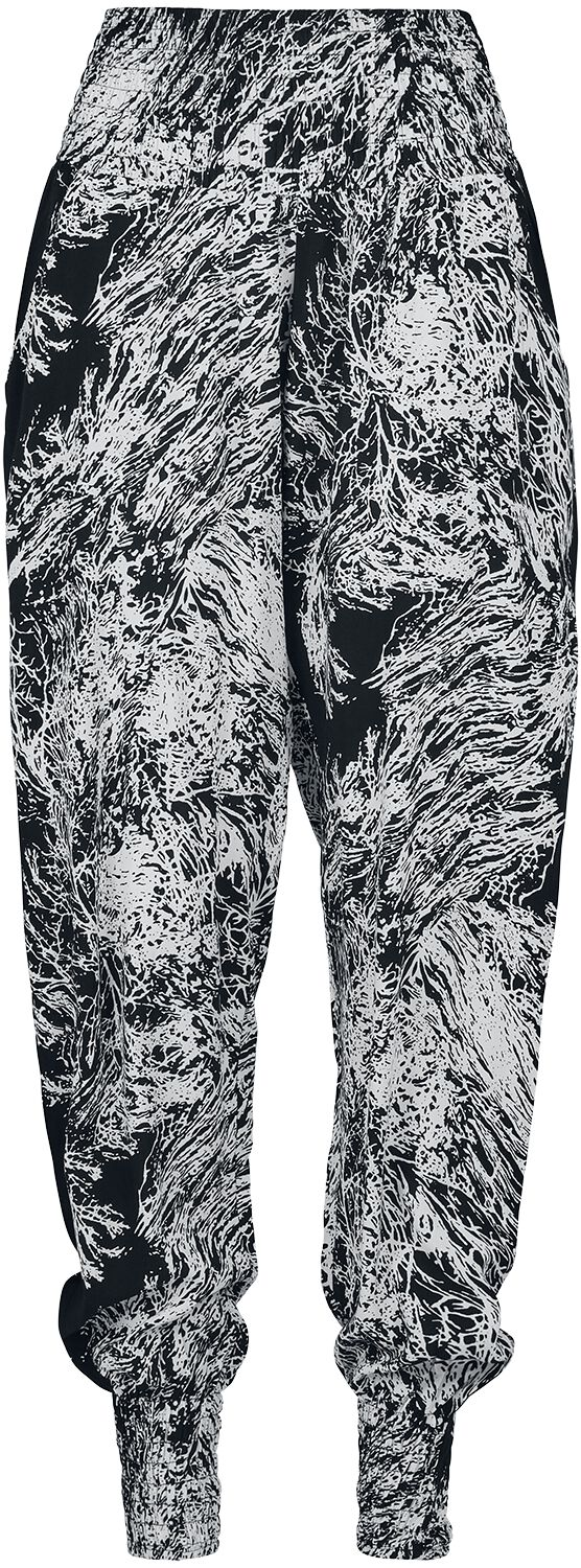 Urban Classics Ladies Sarong Pants Cloth Trousers black white