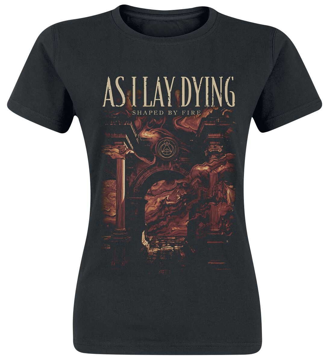 Image of As I Lay Dying Shaped By Fire Girl-Shirt schwarz