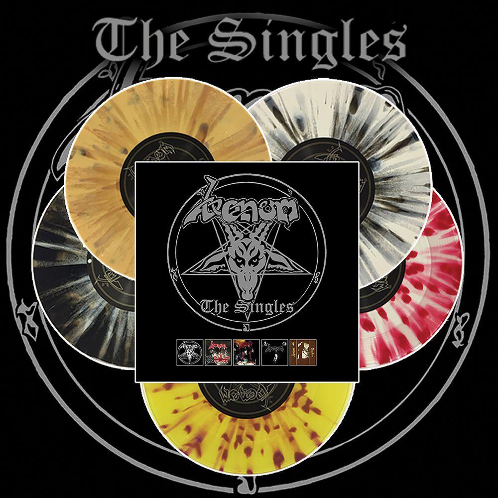 Image of Venom The singles 5 x 7 inch splattered