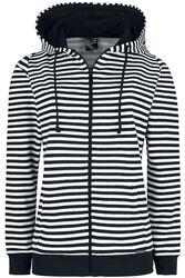 Stripes Hooded Zip-Jacket