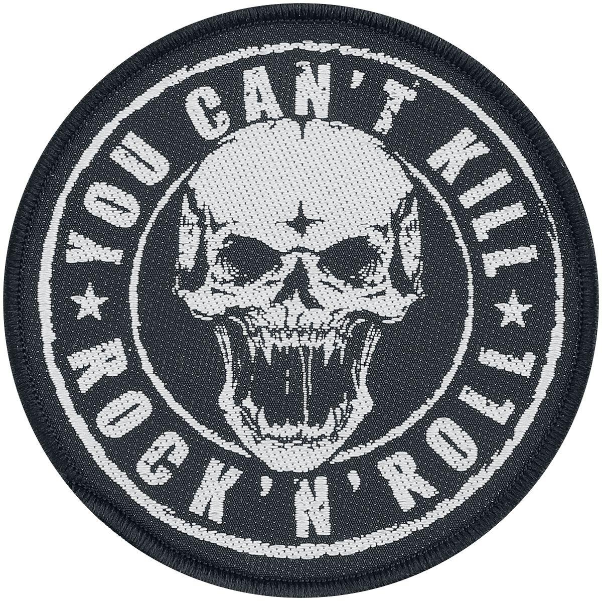 Generic You Can't Kill Rock N Roll  Patch  schwarz/weiß