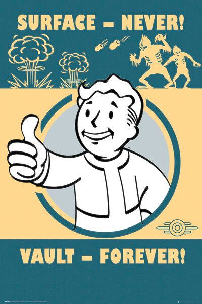 Fallout 4 - Vault Forever Poster multicolor FP4149