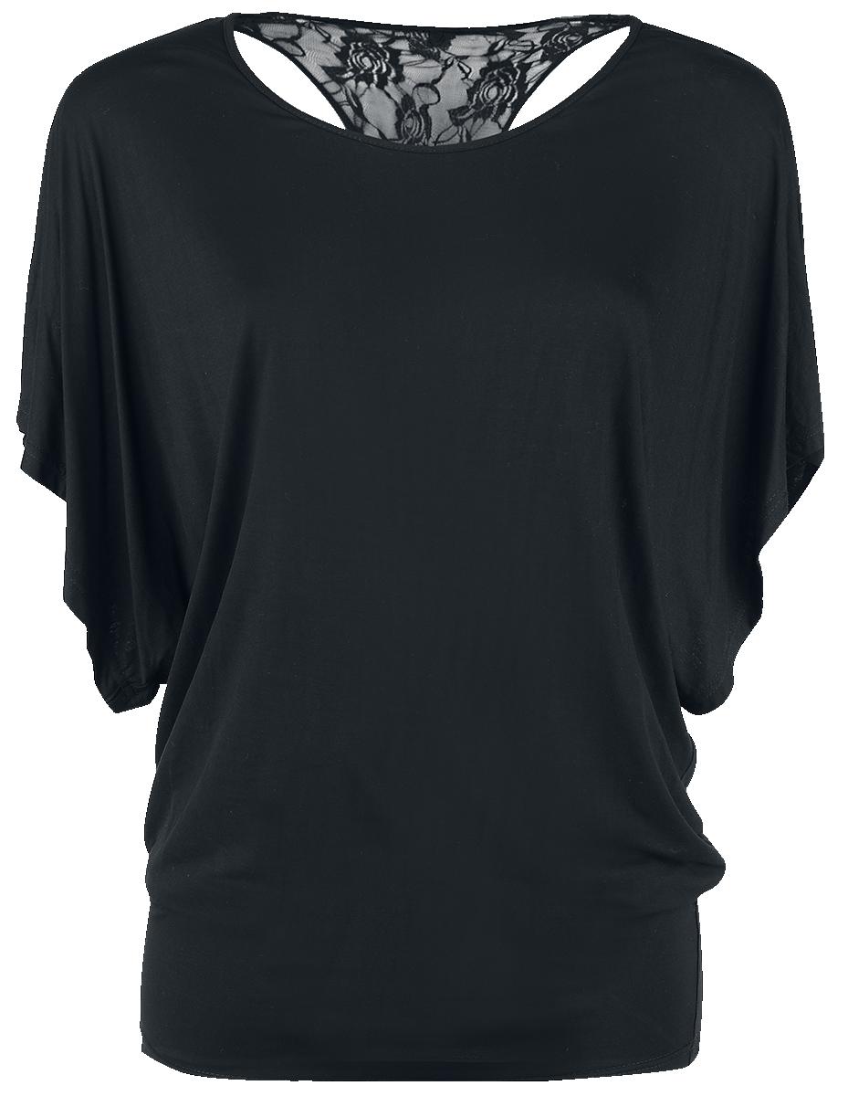 Forplay - Lace Back Bat Wings - Girls shirt - black image
