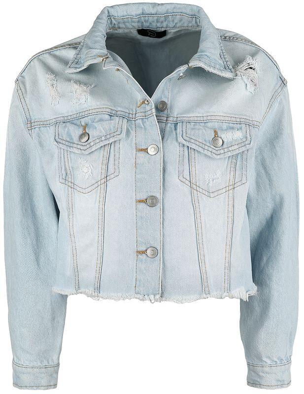 Hellblaue Jeansjacke mit Destroyed Effekten