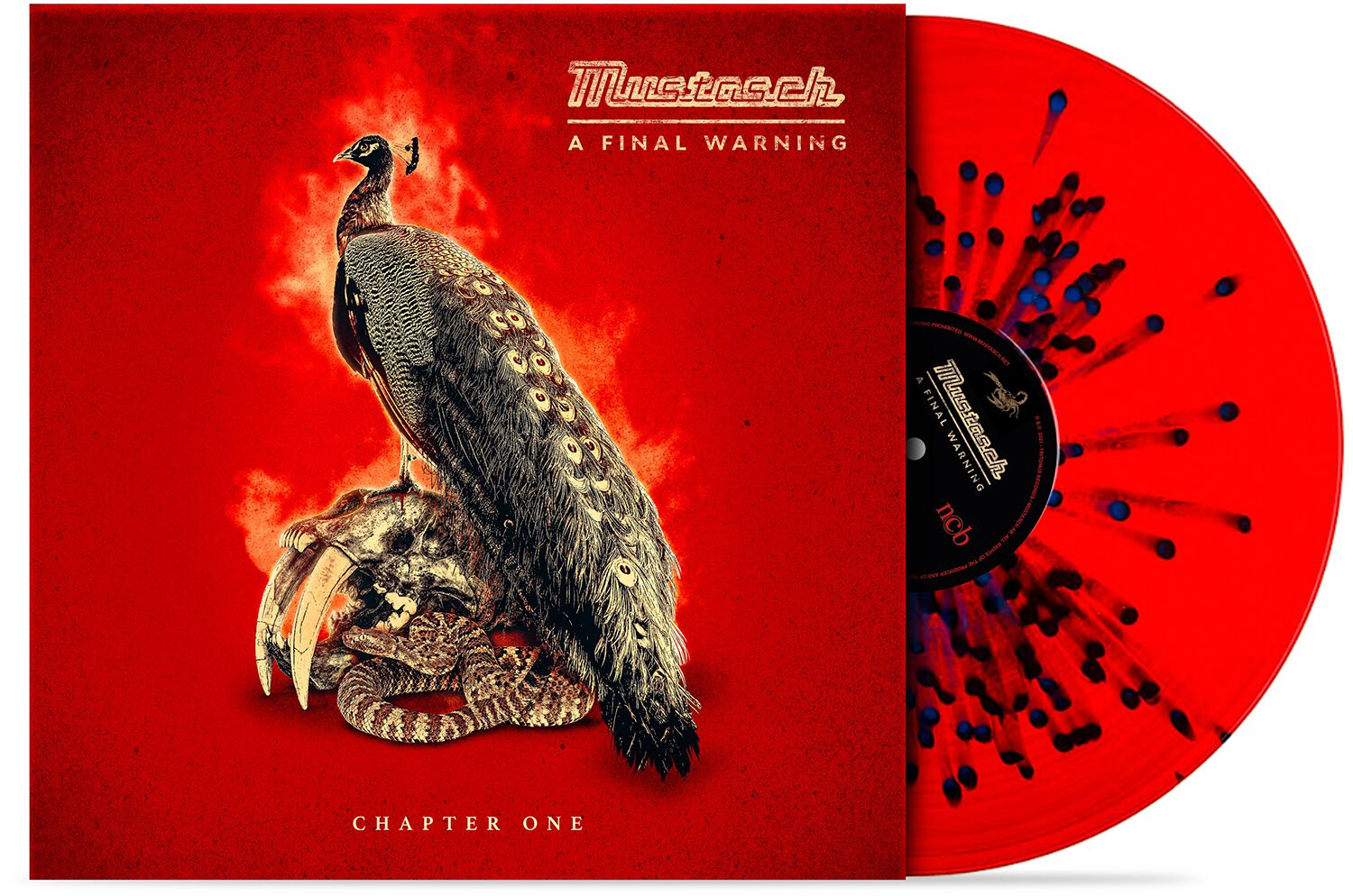 Image of Mustasch A final warning - Chapter one 10 inch-EP rot/blau