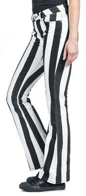 Grace - schwarz/weiß gestreifte Hose