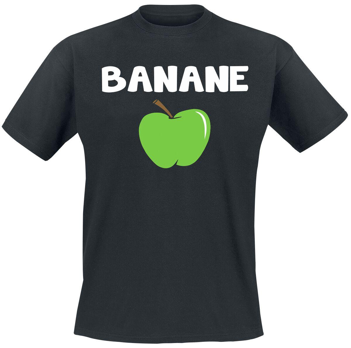 Banane T-Shirt schwarz POD BY083, black Banane