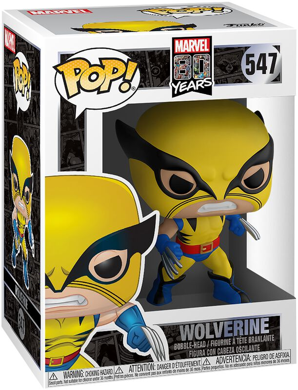 80th - First Appearance: Wolverine Vinyl Figur 547