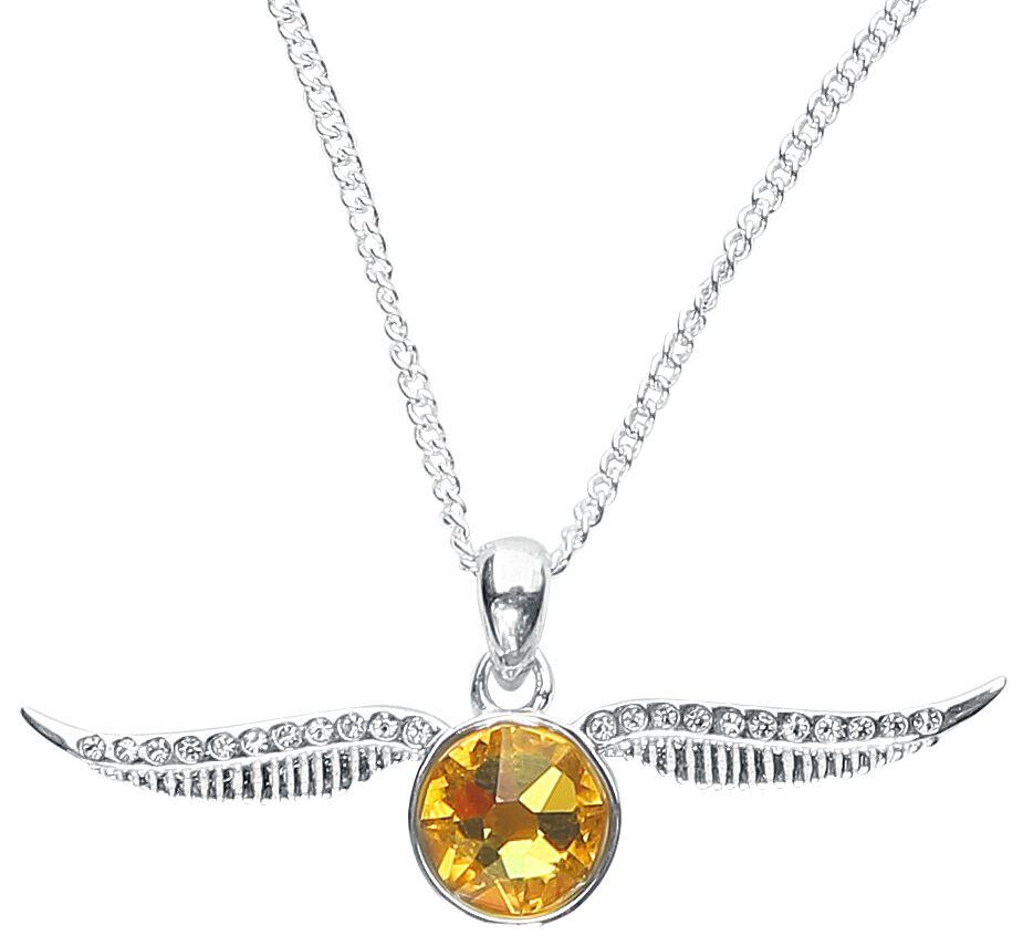 Harry Potter Goldener Schnatz Halskette silberfarben HPSN004