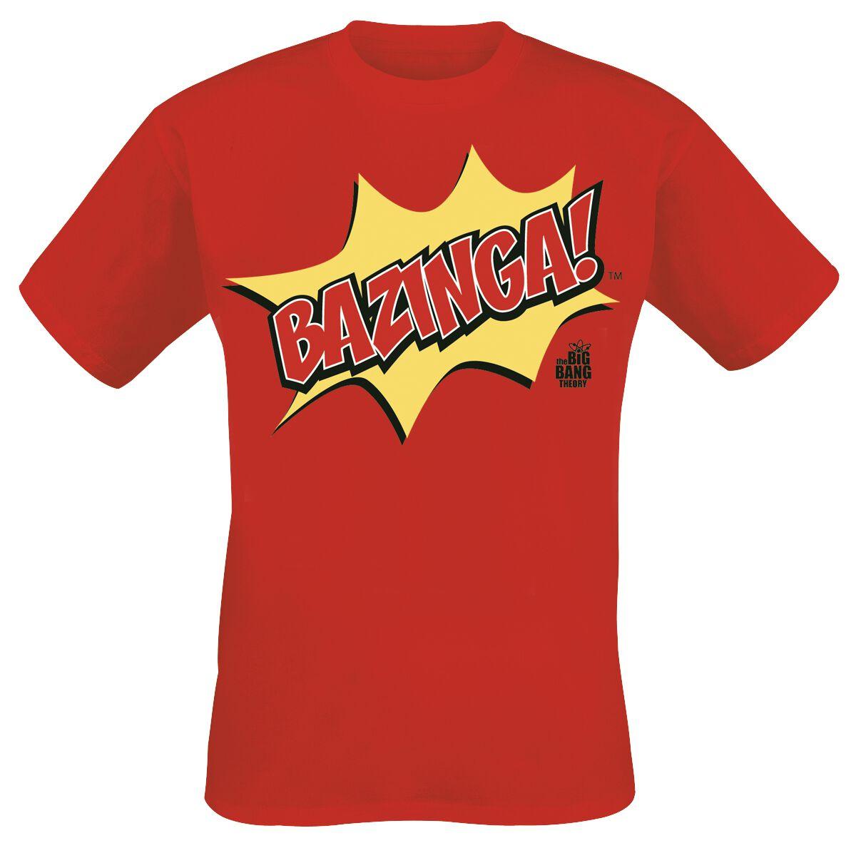 The Big Bang Theory Bazinga! T-Shirt rot M401332 - FOTL 61-036-0 - P0015