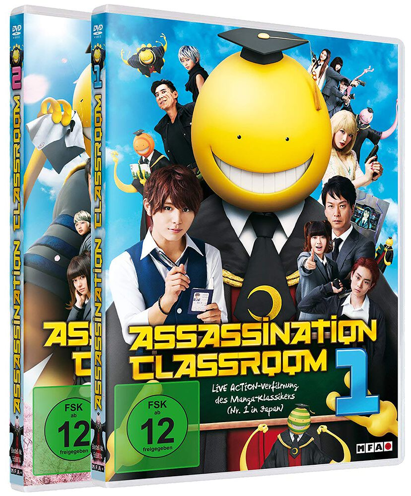 Image of Assassination Classroom Part 1 & 2 2-DVD Standard