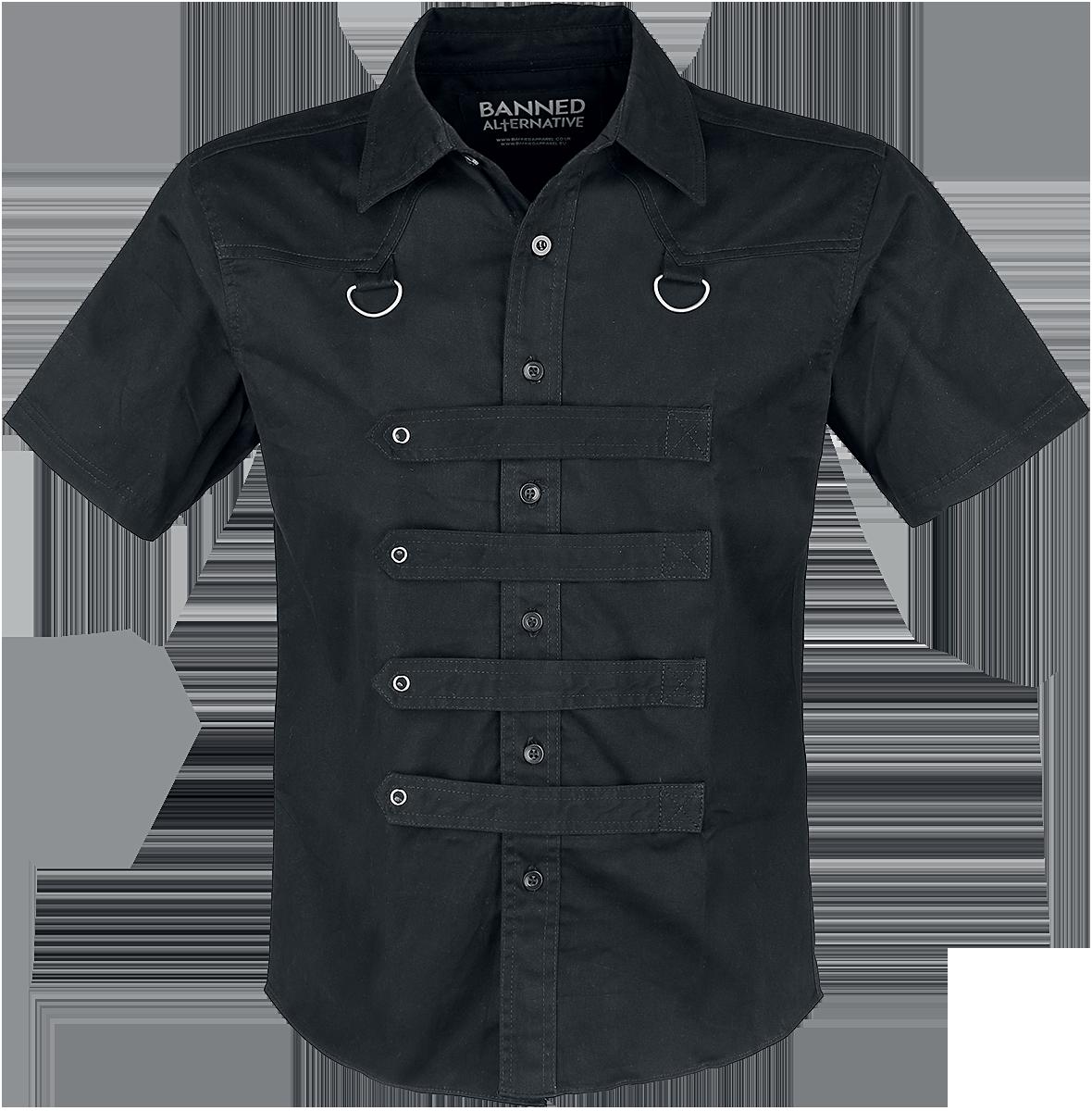 Banned - Strap Shirt - Workershirt - black image
