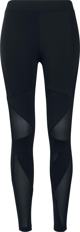 Hosen - Urban Classics Ladies Triangel Tech Mesh Leggings Leggings schwarz schwarz  - Onlineshop EMP