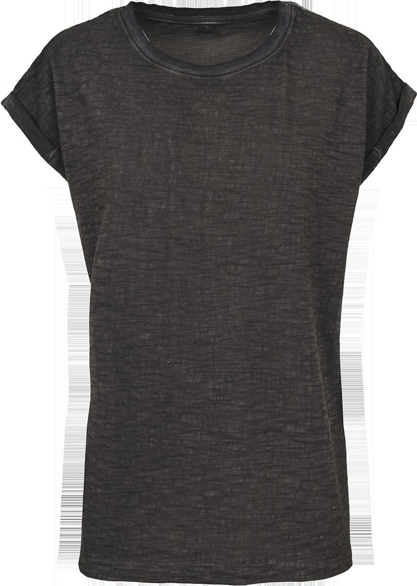 RED by EMP - Ladies Spray Dye Extended Shoulder Tee - Girls shirt - dark grey image