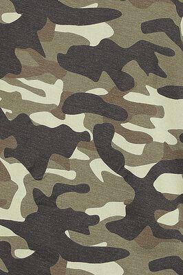 camouflage Longsleeve mit U-Boot-Ausschnitt