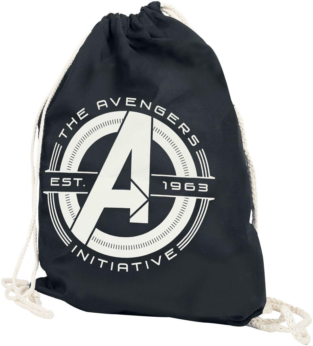 Sporttaschen - Avengers Initative Turnbeutel schwarz  - Onlineshop EMP