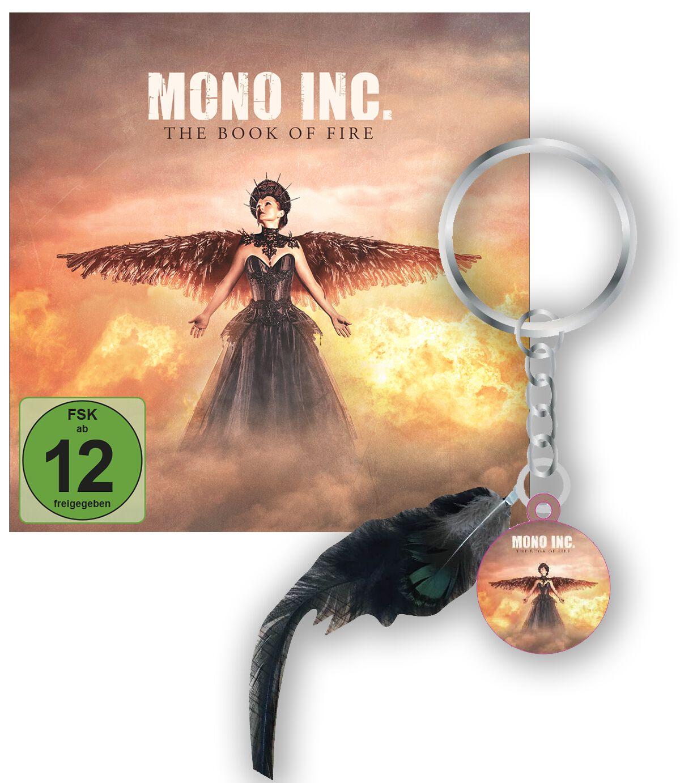 Image of Mono Inc. The book of fire CD & DVD & Schlüsselanhänger Standard