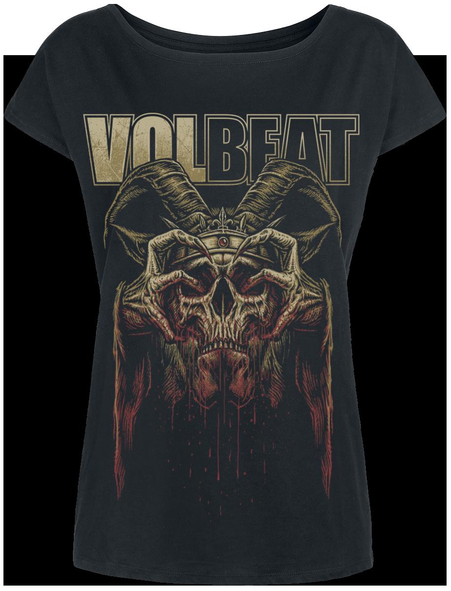 Volbeat - Bleeding Crown Skull - Girls shirt - black image