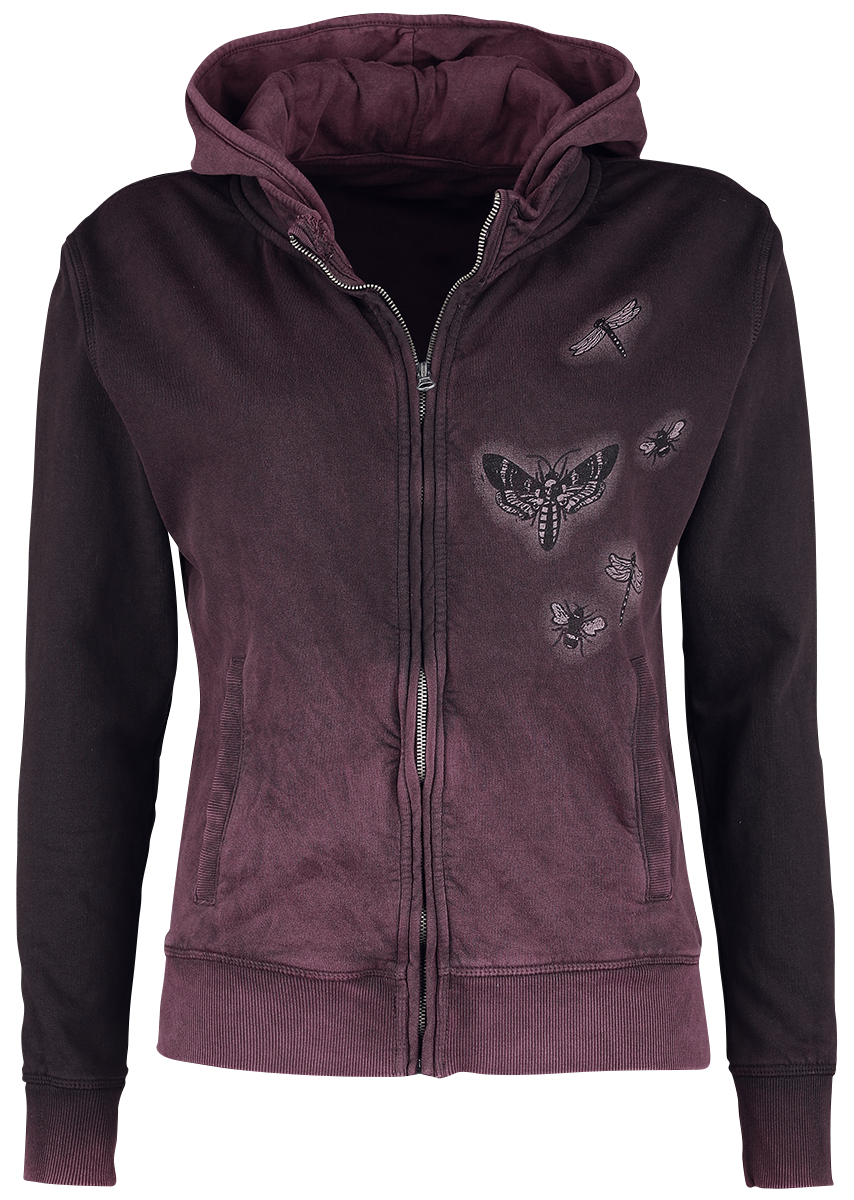 Alchemy England - Amore Skull - Girls hooded zip - lilac image