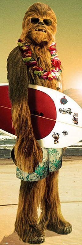 Image of Star Wars Chewbacca - Surfin' Door-Poster multicolor