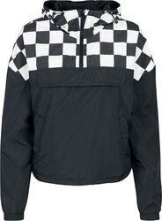 Ladies Short Oversize Check Pull Over Jacket