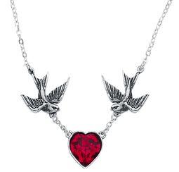 Alchemy: Pewter Pendant: Swallow Heart