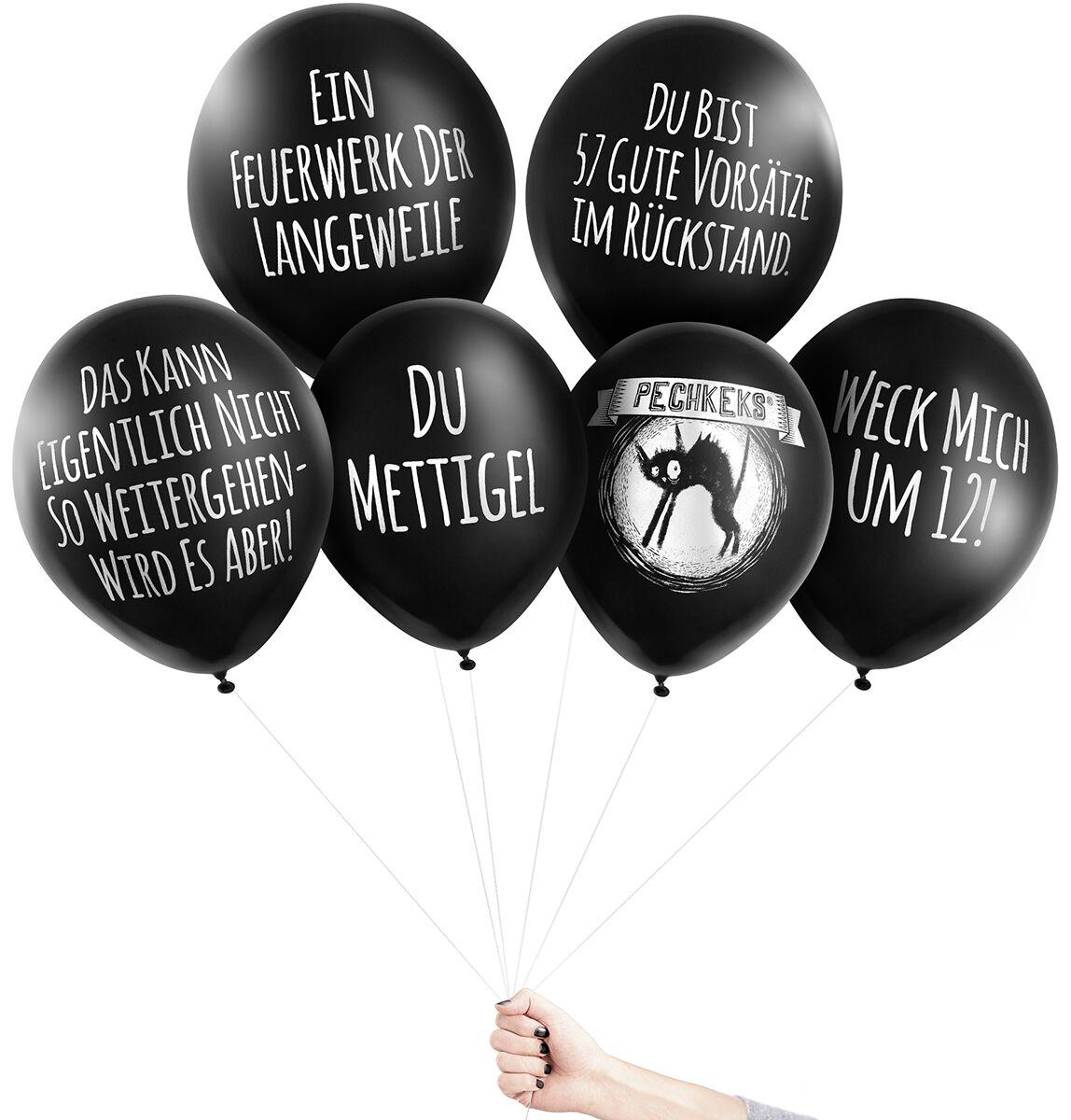 Image of Pechkeks Anti-Ballons - Silvester Aufblasbares schwarz