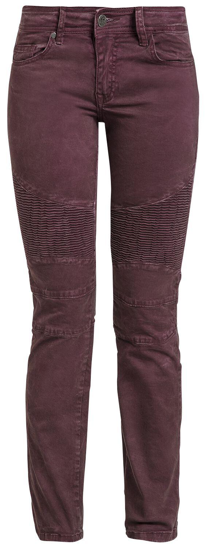 Hosen für Frauen - Black Premium by EMP Kim Girl Jeans bordeaux  - Onlineshop EMP