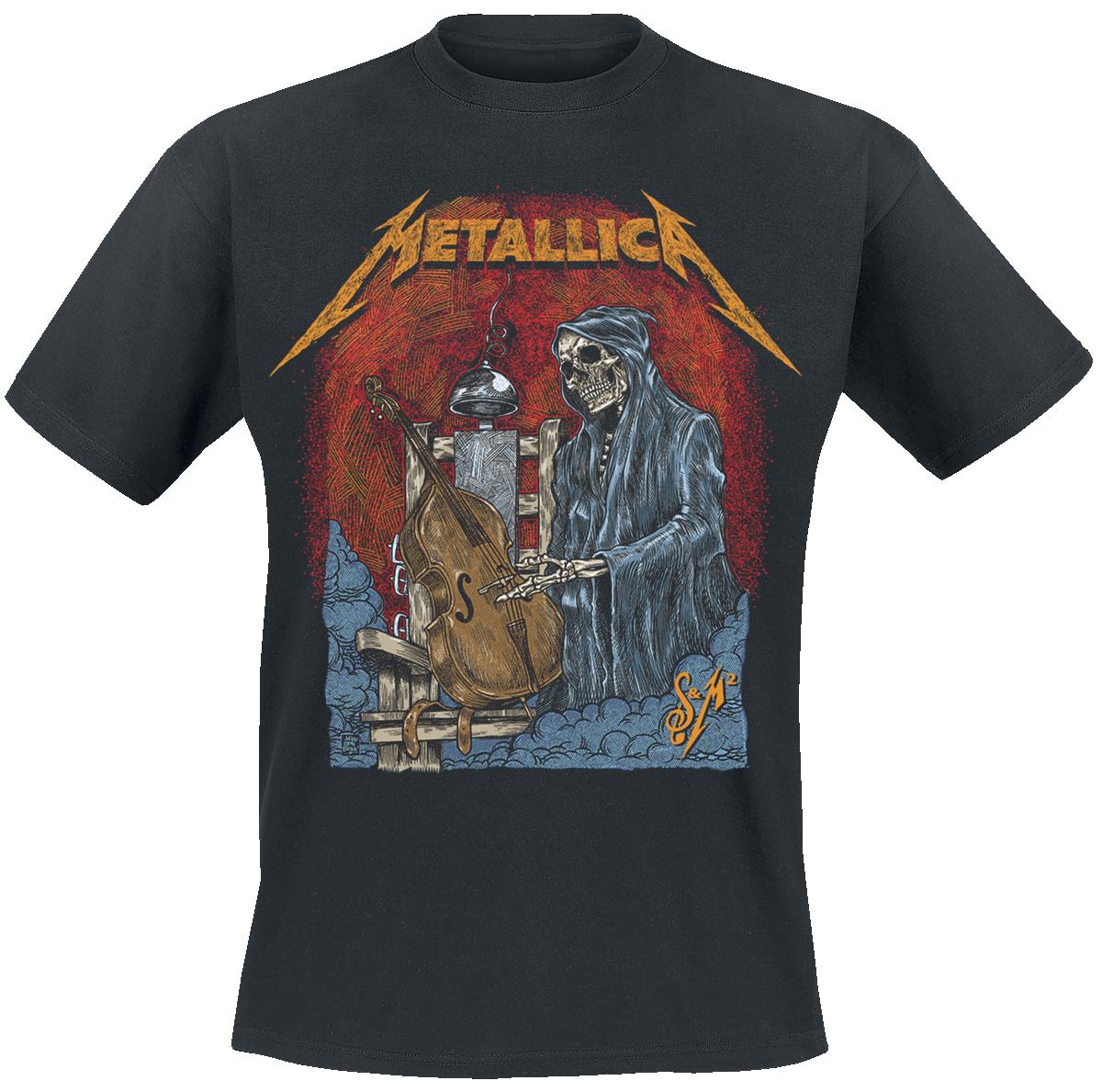 Metallica - S&M2 Cello Reaper - T-Shirt - black image