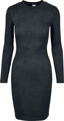 Ladies Peached Rib Dress LS