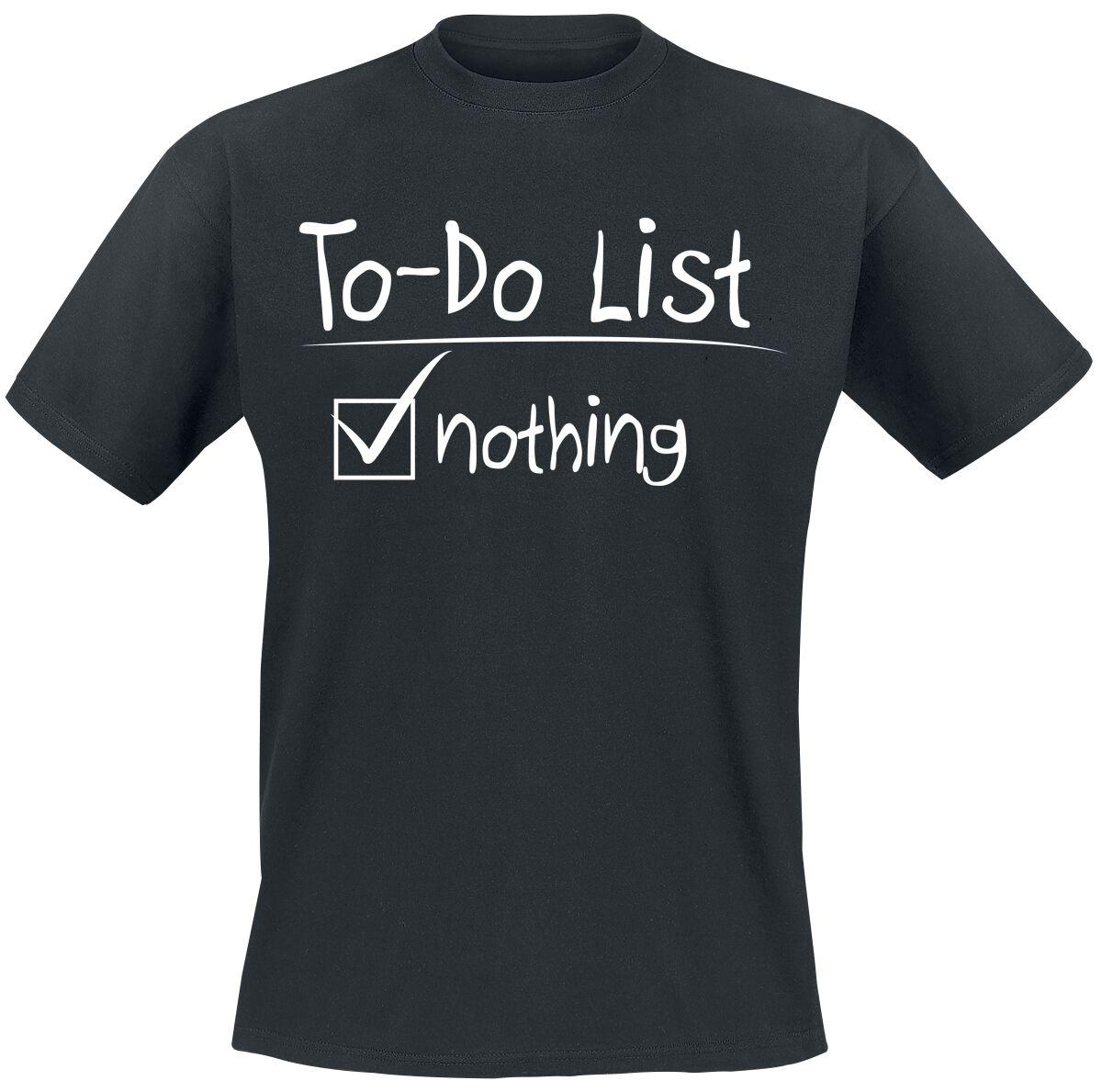 To-Do List T-Shirt black
