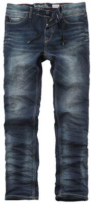 5-Pocket Sweat Denim Optik Hose