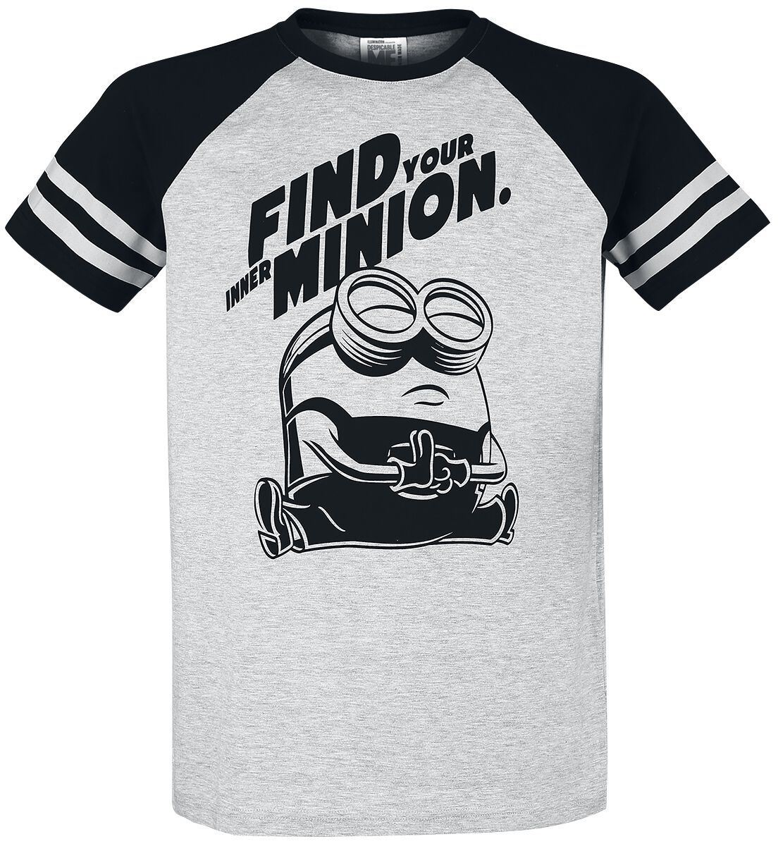 Image of Minions Find Your Inner Minion T-Shirt grigio screziato/nero
