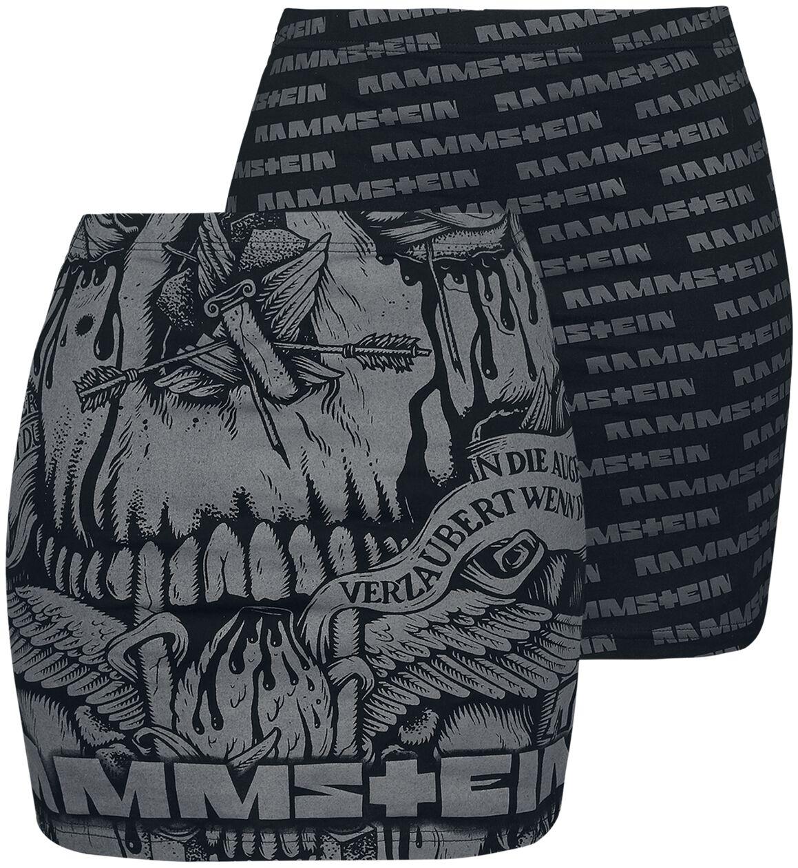 Rammstein - Logo - Kurzer Rock - schwarz grau