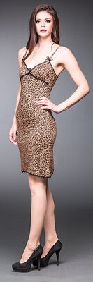 Leopardenkleid mit Spitze
