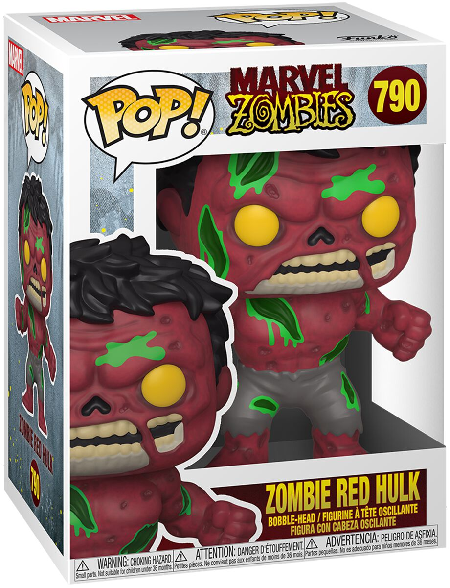 Marvel Zombies - Zombie Red Hulk Vinyl Figur 790 Funko Pop! multicolor 54474