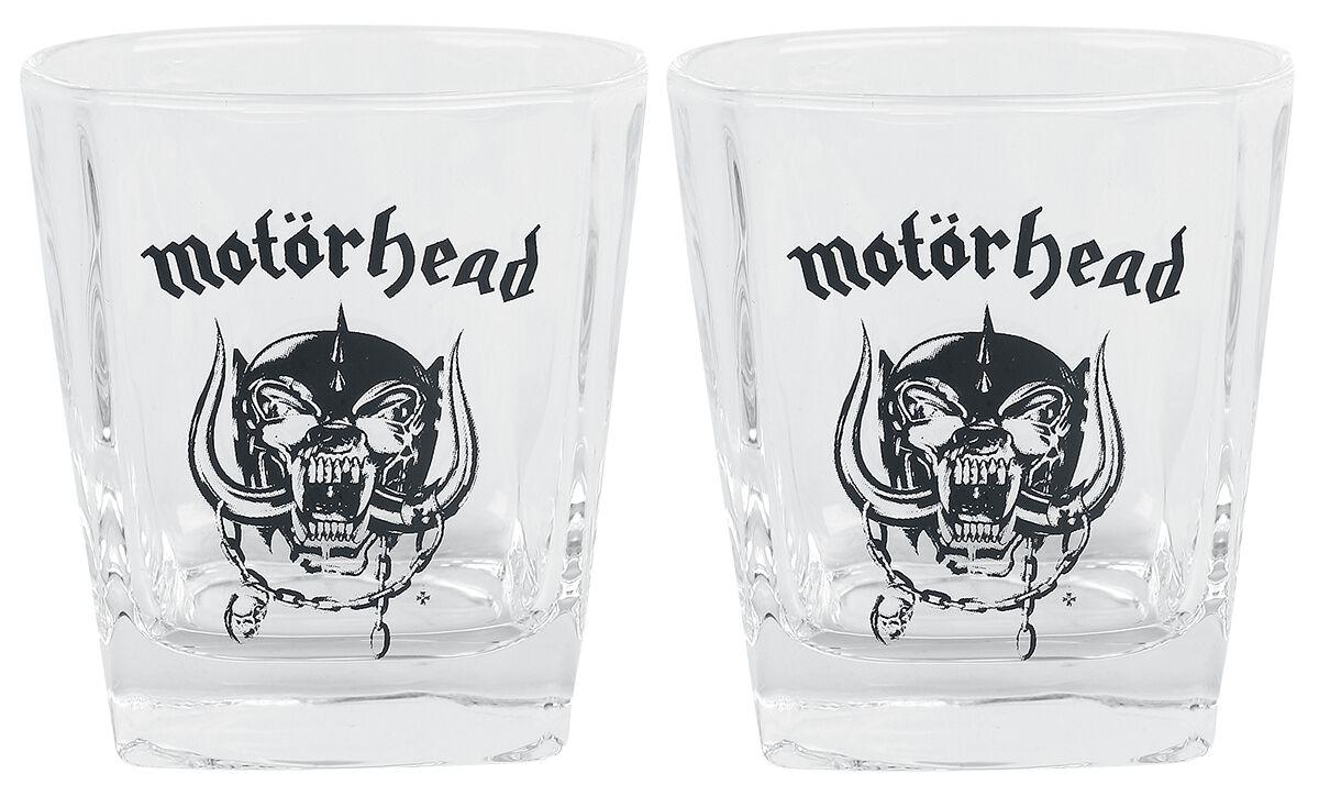 Motörhead Whiskey Glas-Set Whiskyglas klar WGMH1