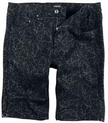 schwarze Shorts mit Blitzen