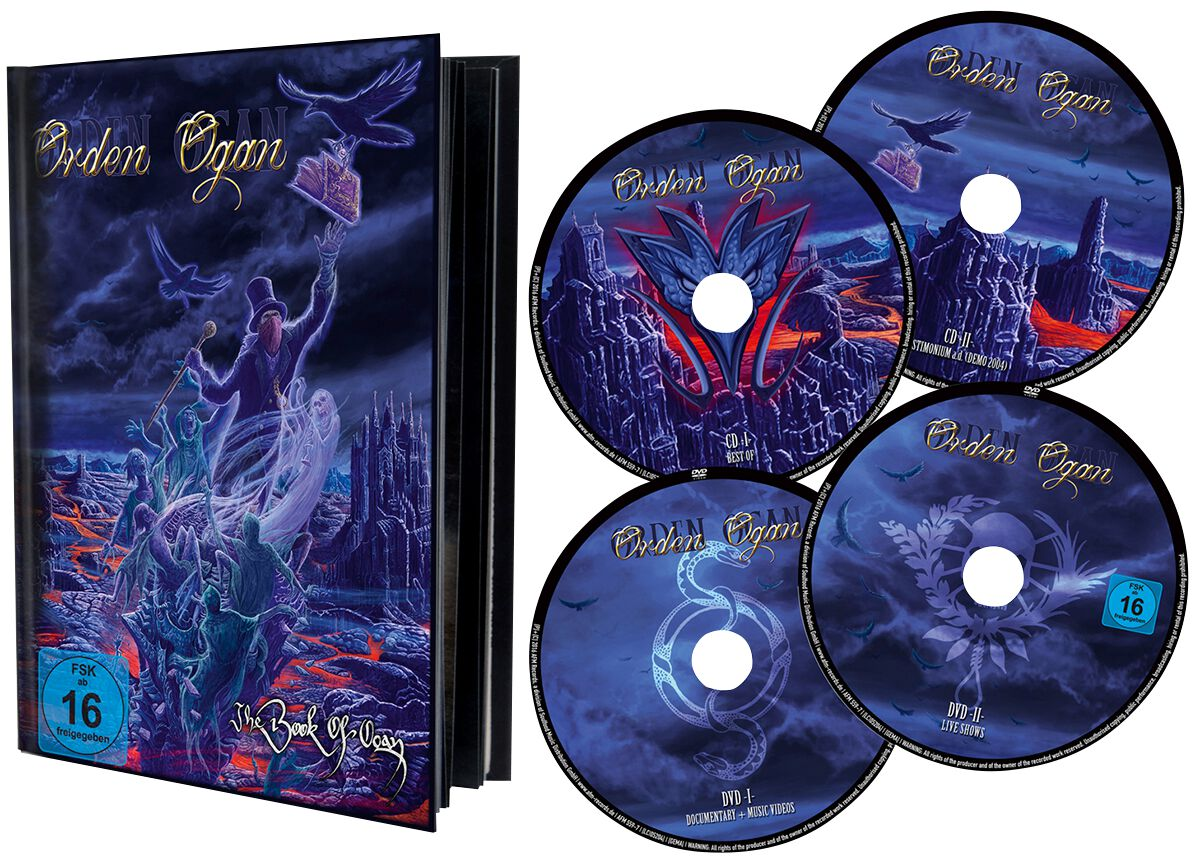 Image of Orden Ogan The book of Ogan 2-DVD & 2-CD Standard