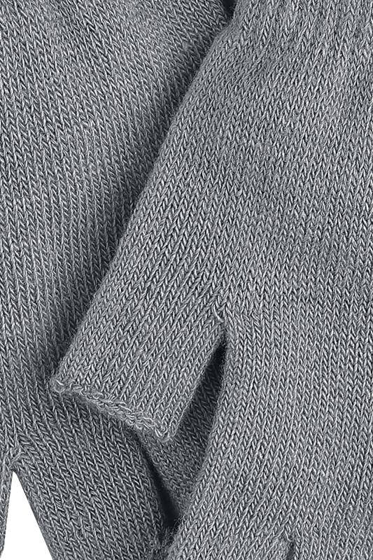 Image of Black Premium by EMP Standard Grey Fingerlose-Handschuhe grau