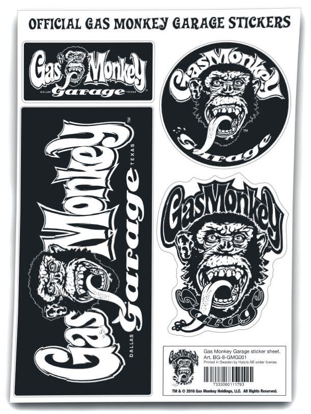 Gas Monkey Garage Sticker Aufkleber-Set multicolor BG-8-GMG001