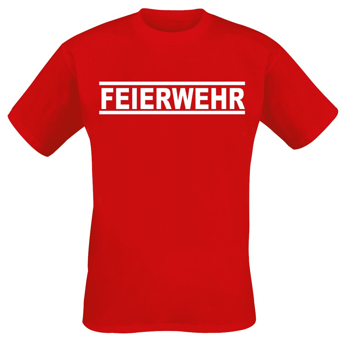 Feierwehr T-Shirt rot B&C #E150 Feierwehr