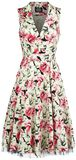 White Rose Floral Sleeveless Penny Dress