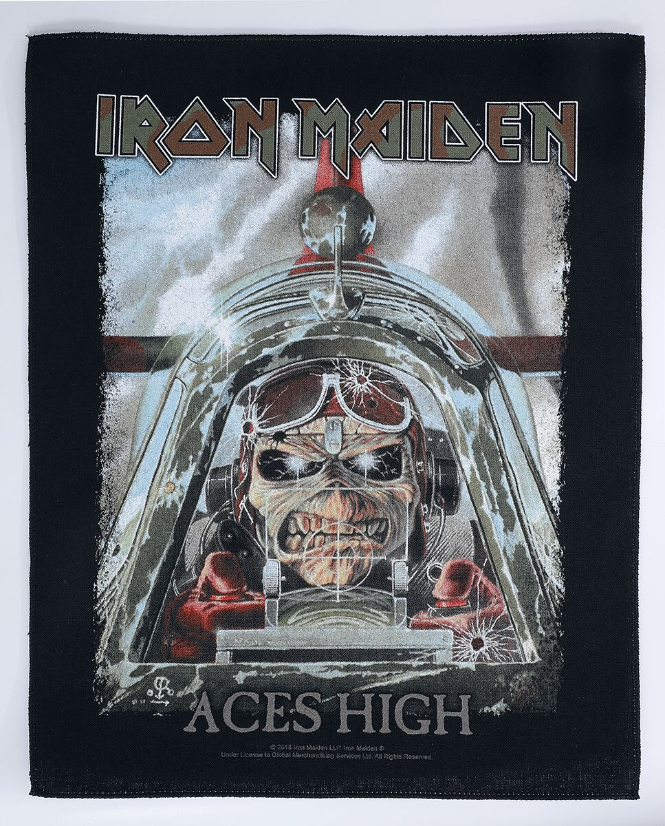 Image of Iron Maiden Aces High Backpatch multicolor