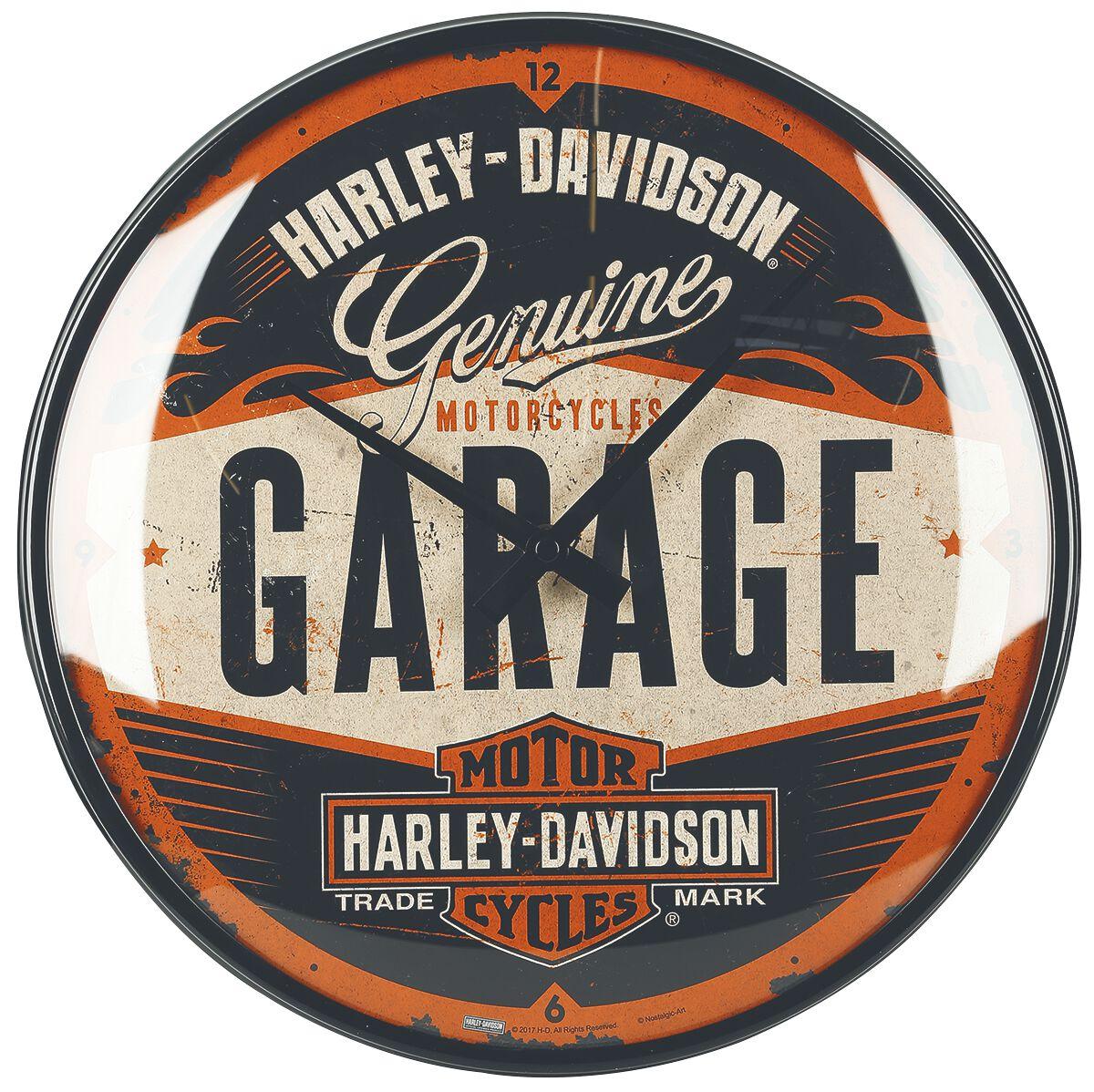 Garage Harley Davidson Wanduhr Emp