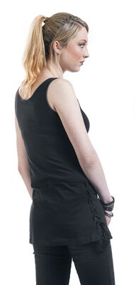 Ladies Leather Imitation Side Knotted Tank