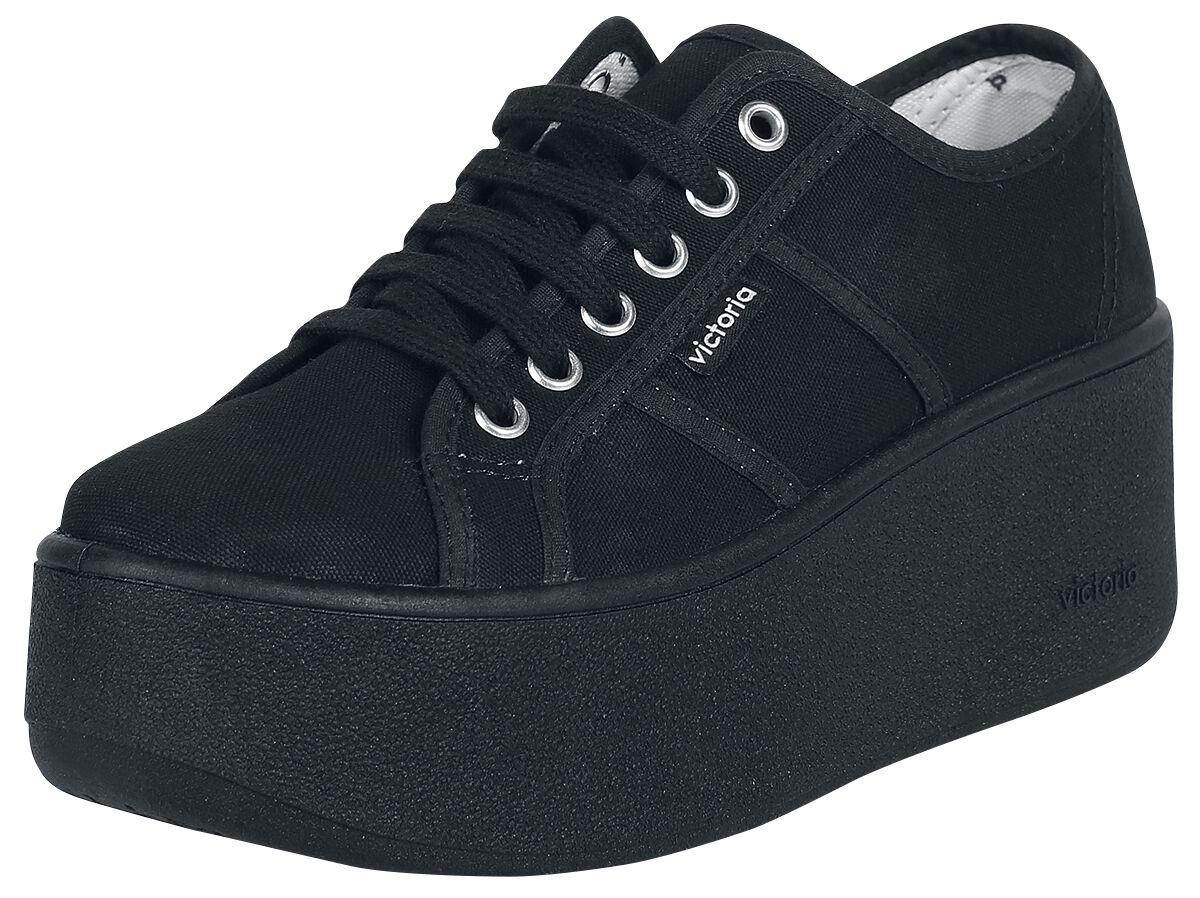 Sneakers für Frauen - Victoria Basket Lona Plataforma Sneaker schwarz  - Onlineshop EMP